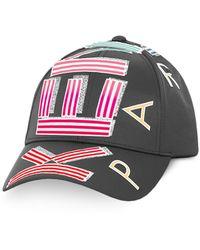 KENZO Black Nylon Sport Logo Animation Baseball Cap - Negro