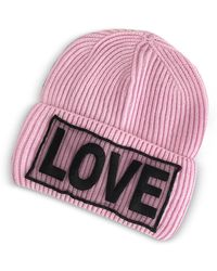 Versace - Love Knitted Wool Beanie Hat - Lyst