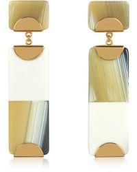 Tory Burch - Resin Color-block Drop Earrings - Lyst