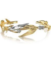 Aurelie Bidermann Mimosa Armband aus 18k vergoldetem Brass mit Kristallen - Mettallic