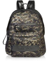 Balmain - Military Green/black Camouflage Nylon Men's Club Backpack W/embossed Signature Logo - Lyst