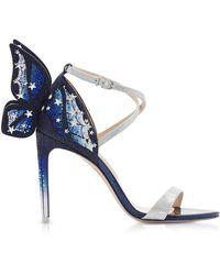 Sophia Webster Silver & Midnight Blue Chiara Embellished Sandals - Metallic