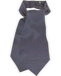 FORZIERI - Paisley Print Silk Tie Ascot - Lyst