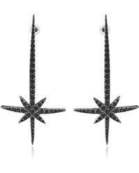 FEDERICA TOSI Comet Earrings w/Strass - Schwarz