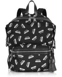 Moschino - Backpack In Black Nylon - Lyst