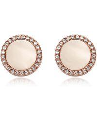 Fossil - Shimmer Horn Studs Women's Earrings - Lyst
