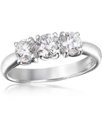 FORZIERI 0.92 Ctw Diamond Three-stone 18k Gold Ring - Metallic