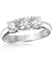 FORZIERI - 0.92 Ctw Diamond Three-stone 18k Gold Ring - Lyst