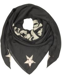 Givenchy - Black Wool And Silk Signature Print Wrap - Lyst