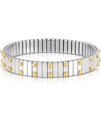 Nomination Beads Stainless Steel W/golden Studs Women's Bracelet - Metallic