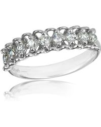 FORZIERI 0.37 Ctw Nine-stone Diamond 18k White Gold Ring - Metallic