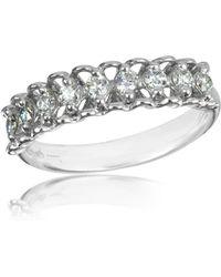 FORZIERI - 0.37 Ctw Nine-stone Diamond 18k White Gold Ring - Lyst