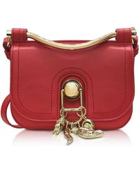 Carven - Pepper Red Leather Misti Crossbody Bag - Lyst
