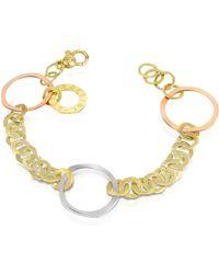 Torrini - Fiesole - Three-tone 18k Gold Circles Chain Bracelet - Lyst