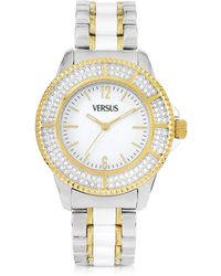 Versus - Tokyo Crystal 38 White And Gold Stainless Steel Women's Watch - Lyst
