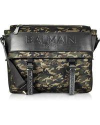 Balmain - Military Green/black Camouflage Nylon Men's Chuck Messenger Bag - Lyst