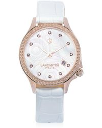 Lancaster Goccia Rose Gold Stainless Steel Watch - White
