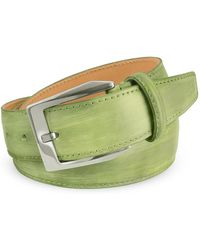 Pakerson - Men's Pistachio Green Hand Painted Italian Leather Belt - Lyst