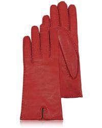 FORZIERI Rote Damenhandschuhe aus italienischem Leder
