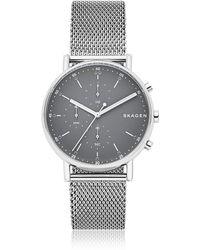 Skagen - Signatur Steel Mesh Men's Chronograph Watch - Lyst