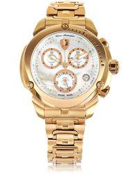Tonino Lamborghini - Shield Lady Rose Gold Tone Stainless Steel Chronograph Watch - Lyst
