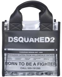 DSquared² Small Shopping Bag With Logo - Black