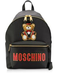 Lyst - Moschino Toy Safety Pin Small Backpack In Pink Calfskin in Pink 154679a79805f