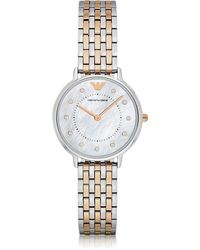 a9b6523b1 Emporio Armani 'kappa' Quartz And Stainless-steel-plated Casual Watch,  Color:gold-toned (model: Ar11007) in Metallic - Lyst