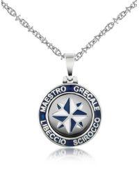 FORZIERI Stainless Steel Wind Rose Pendant Necklace - Metallic