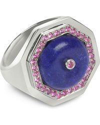 Sho London Lapis Lazuli Clementina Ring - Blue