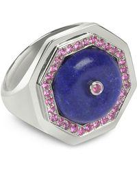 Sho London - Lapis Lazuli Clementina Ring - Lyst