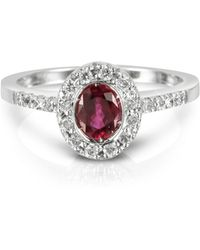 FORZIERI Ruby And Diamond 18k White Gold Ring - Red