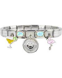 Nomination Happiness Armband aus Sterling Silber und Edelstahl - Mettallic