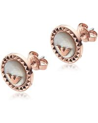 12e33505 Emporio Armani Ladies Signature Earrings Silver in Metallic - Save 6 ...