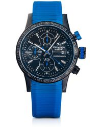 Strumento Marino Admiral Orologio con Cronografo da Uomo in Acciao e Silicone Blu