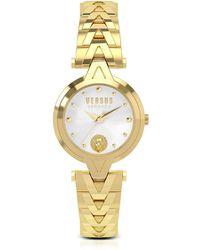 Versus - V Versus Gold Tone Stainless Steel Women's Bracelet Watch - Lyst