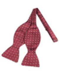 FORZIERI Polkdot Silk Self-tie Bowtie - Red