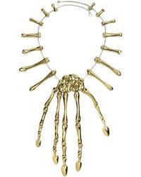 Bernard Delettrez Halskette mit Hand aus Bronze - Mettallic