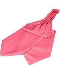 FORZIERI Einfarbiges Seidenascot - Pink