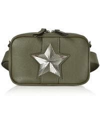 Les Jeunes Etoiles Leather Vega Belt Bag W/chain Strap - Green