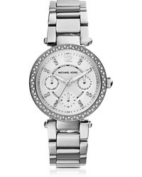 Michael Kors Parker Stainless Steel Women's Watch - Metallic