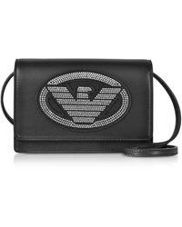 Emporio Armani Logo Signature Mini Bag - Black