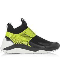 McQ Hikaru 3.0 Sneakers Homme Citron Vert et Noir