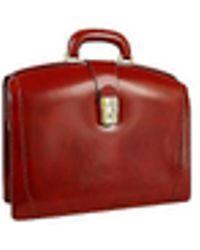 Pratesi Junior Italian Leather Briefcase - Brown