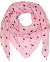 e7f154f8fbe KENZO - Pink Modal And Silk Printed Eye Wrap - Lyst