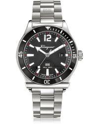 Ferragamo - Ferragamo 1898 Sport Silver Stainless Steel Men's Bracelet Watch - Lyst
