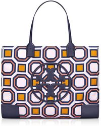Tory Burch - Ella Octagon Square Print Nylon Tote Bag - Lyst