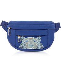 KENZO Navy Blue Kampus Neoprene Tiger Belt Bag - Azul
