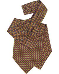 FORZIERI - Multicolor Floral Print Silk Ascot - Lyst