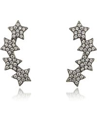 FEDERICA TOSI Lobo Multi Stars Earrings - Schwarz